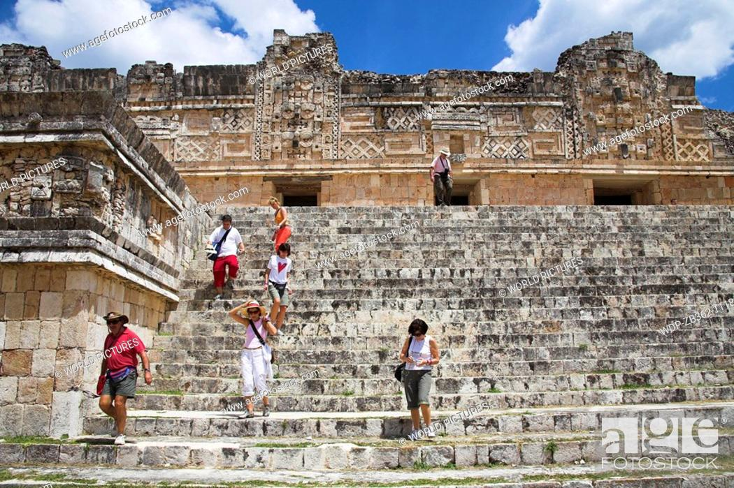 Stock Photo: Cuadrangulo de las Monjas, Quadrangle of the Nuns, Uxmal Archaeological Site, Uxmal, Yucatan State, Mexico Date: 02 04 2008 Ref: ZB362-111809-0099 COMPULSORY.