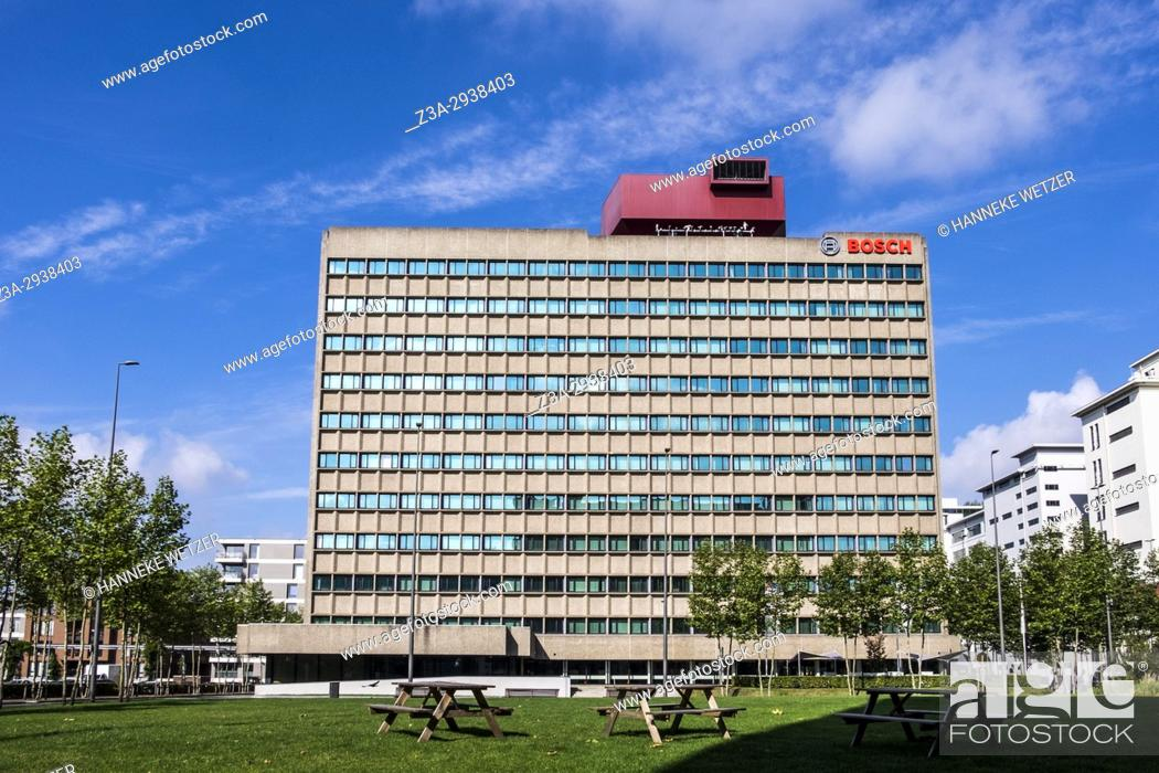 Stock Photo: The BOSCH building at Strijp-S, Eindhoven, The Netherlands, Europe.