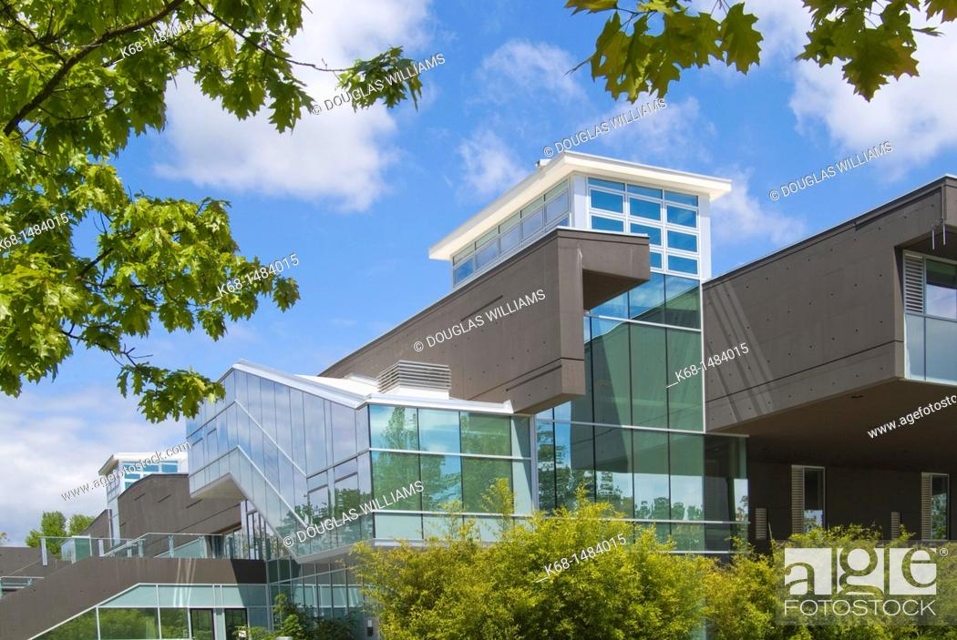 Stock Photo: Langara College library building, Vancouver, BC, Canada.