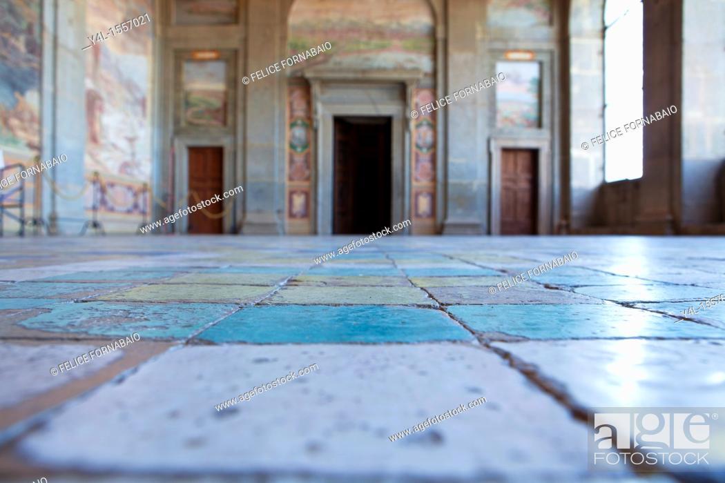 Stock Photo: Loggia, Farnese Palace, Caprarola, Italy.