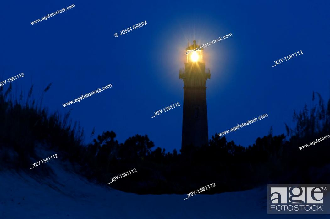 Stock Photo: Currituck Beach Lighthouse, Corolla, Outer Banks, OBX, North Carolina  1875.