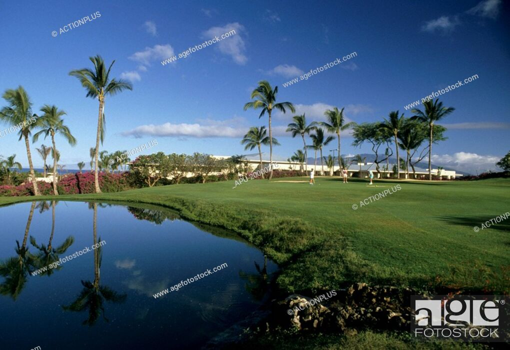 Imagen: Golfers on a golf course.