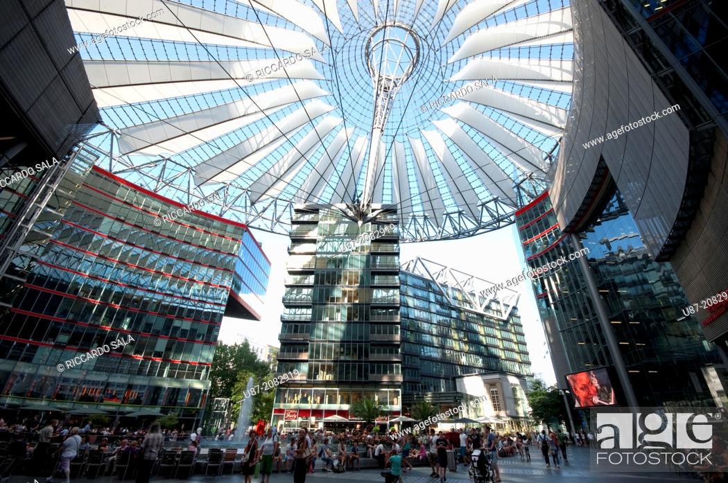 Stock Photo: Germany, Berlin, Potsdamer Platz, Sony Center.