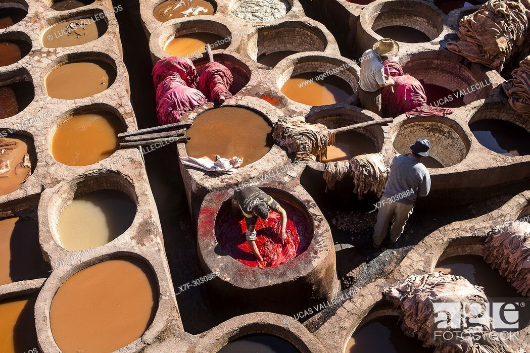 Stock Photo: Chouwara tanneries. Fez. Morocco.
