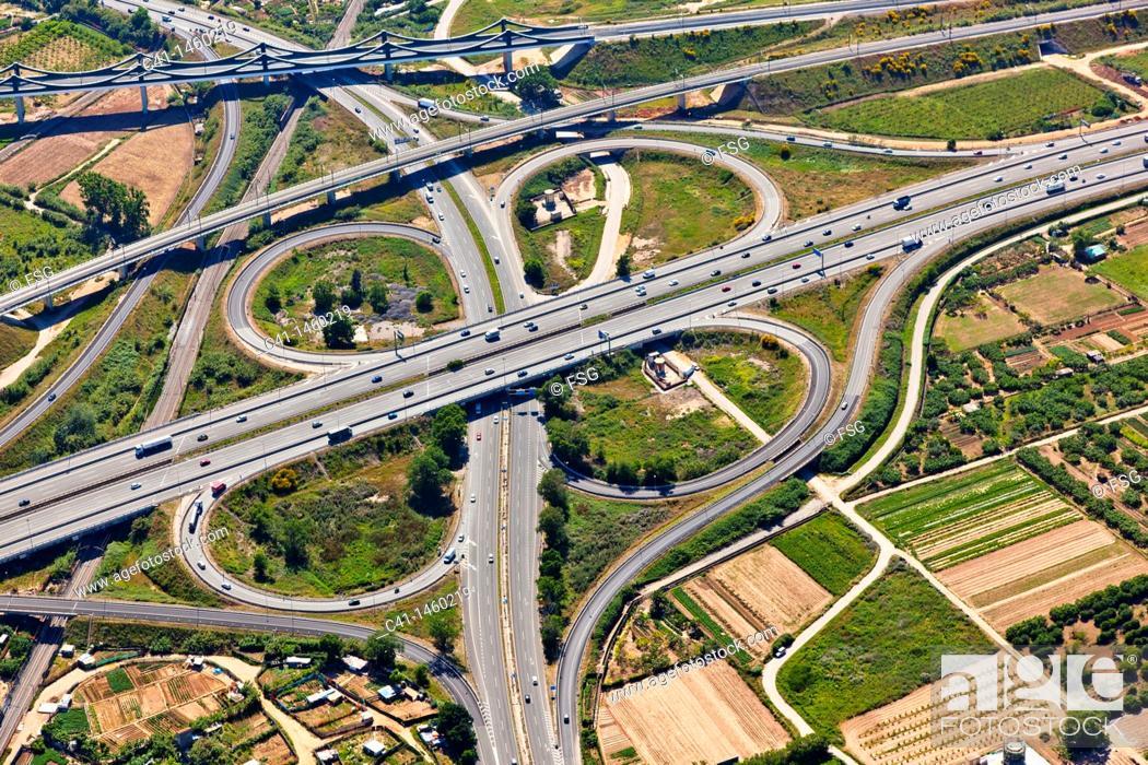 Stock Photo: Highway  L'Hospitalet de Llobregat  Barcelona, Spain.