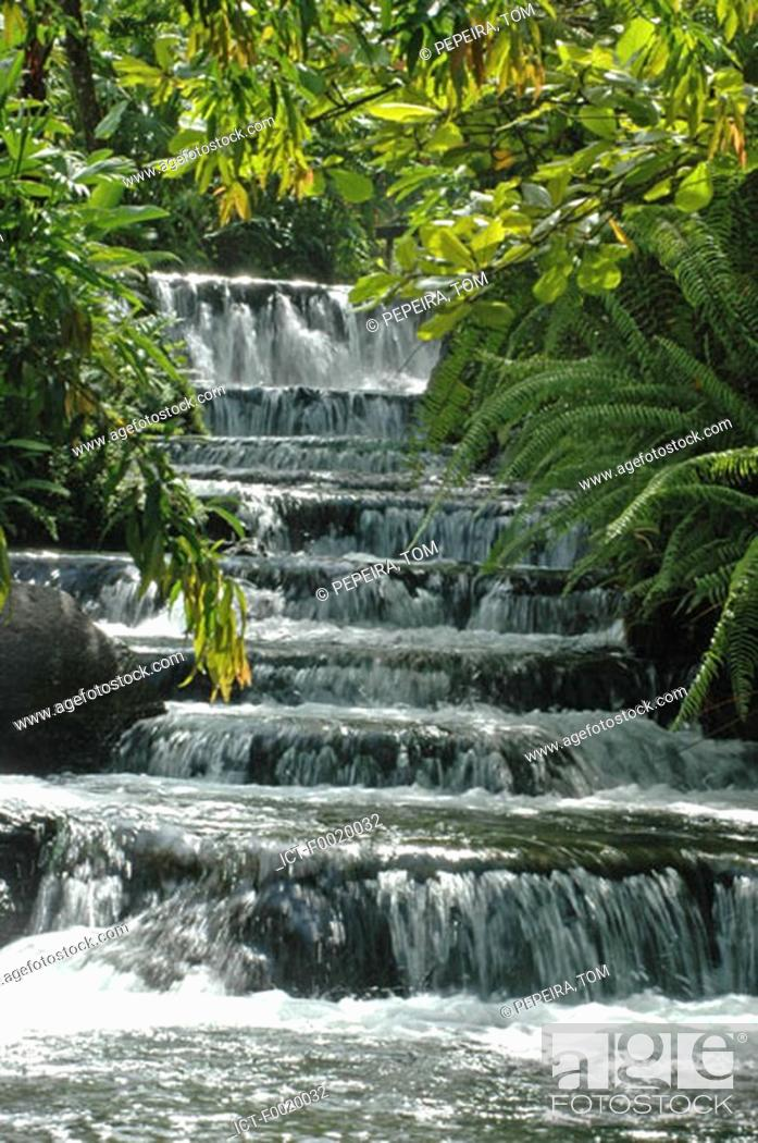 Stock Photo: Costa Rica, Arenal Volcano National Park, hot springs.