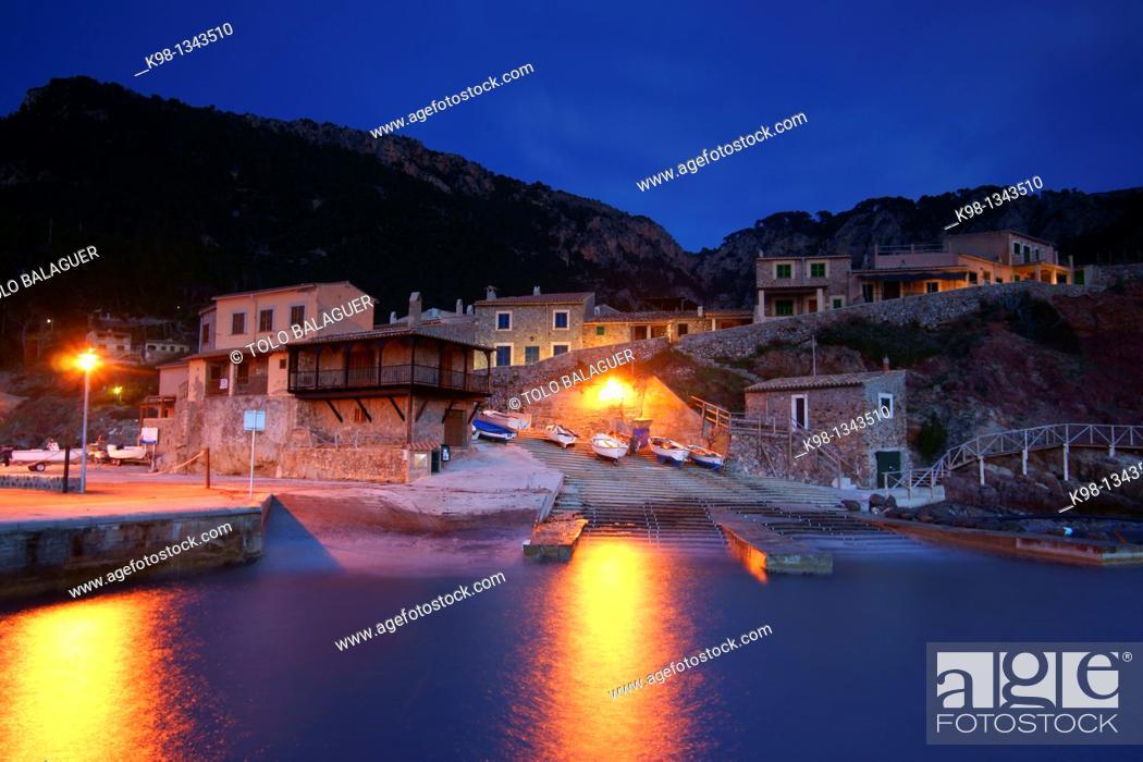 Stock Photo: Port of Valldemossa, Mallorca Balearic Islands, Sierra de Tramuntana. Spain.