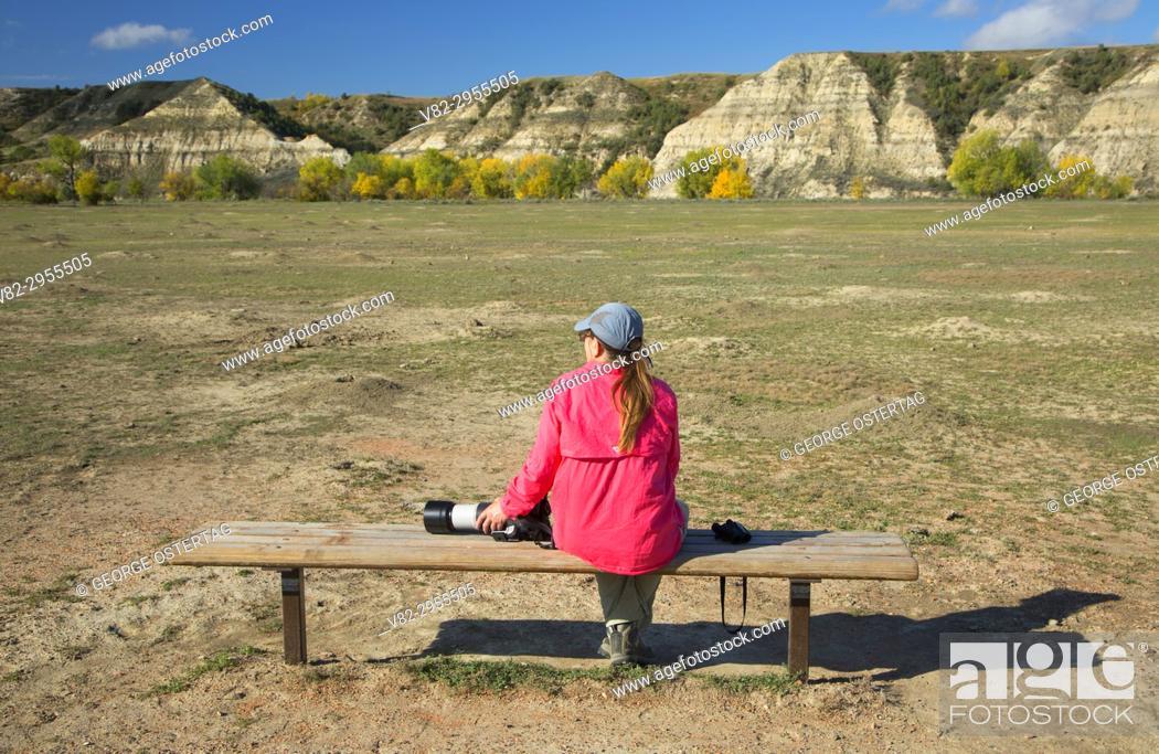 Stock Photo: Prairie dog town, Theodore Roosevelt National Park-South Unit, North Dakota.
