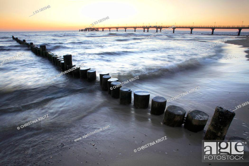 Stock Photo: Baltic Sea. Usedom. Mecklenburg-Western Pomerania. Germany.