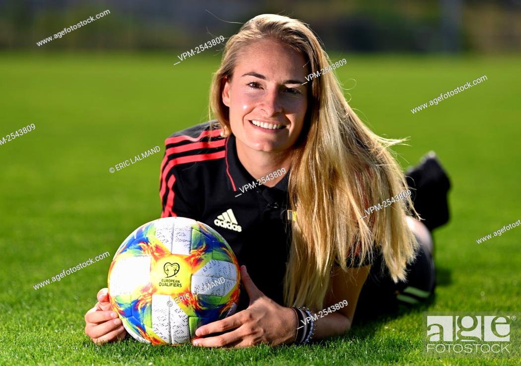 Stock Photo: Red flames Tessa Wullaert poses for the photographer at the Royal Belgian Soccer Union, in Tubize, Monday 14 September 2020...BELGA PHOTO ERIC LALMAND.