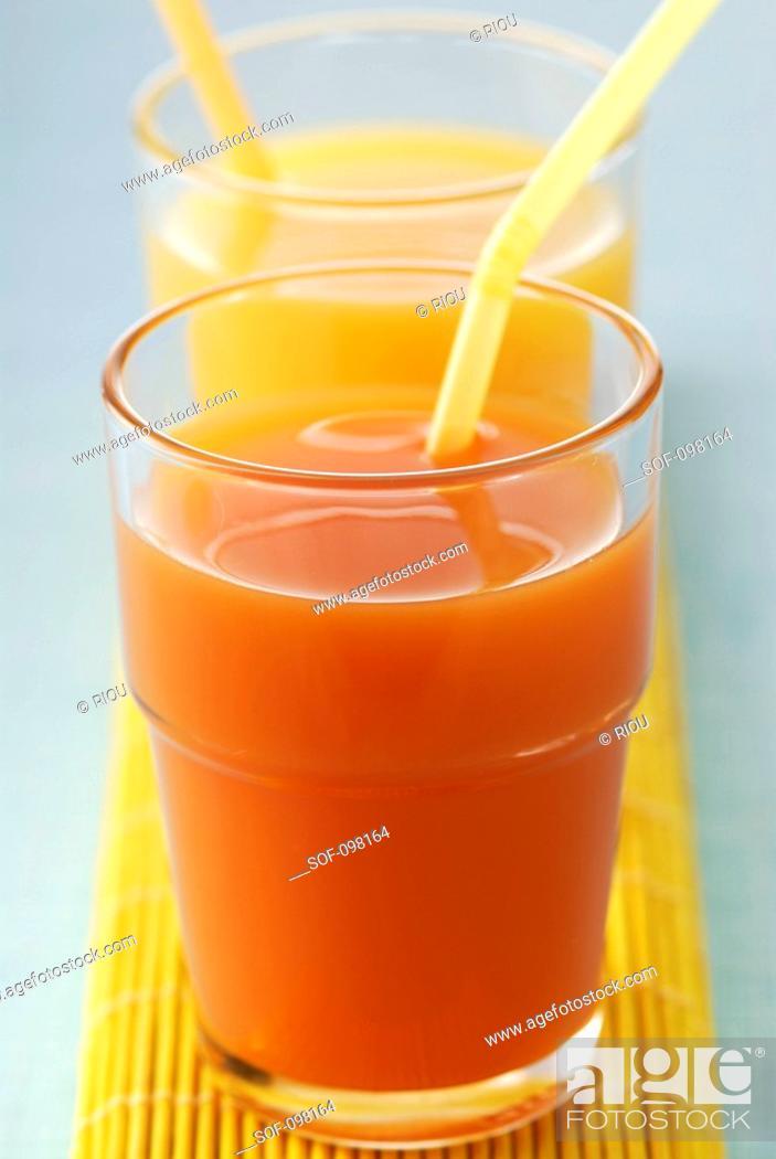 Stock Photo: Fruit juices.