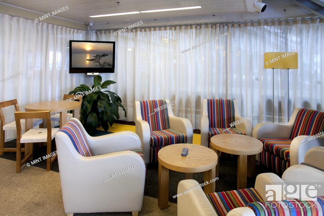 Stock Photo: Business Lounge at an Airport.