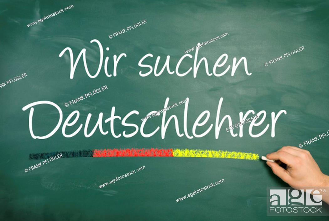 Stock Photo: White, Green, Hand, Work, Bright, Paper, Education, Educational Institution, School, German, Orthographic Text, Learning, Talking, Study, Free, Talk, Speech, Analysis, Chatting, Pure, Blackboard, Teacher, Classroom, Chalk, Addiction, Language, Academic, Institution, Written, Pale