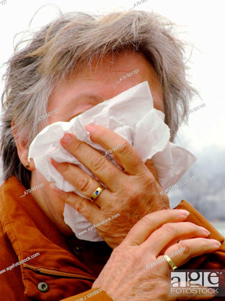 Stock Photo: Allergy.