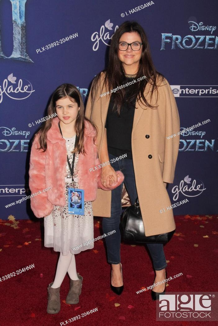"""Stock Photo: Tiffani Thiessen, Harper Renn Smith 11/07/2019 The World Premiere of """"""""Frozen 2"""""""" held at the Dolby Theatre in Los Angeles, CA. Photo by I."""