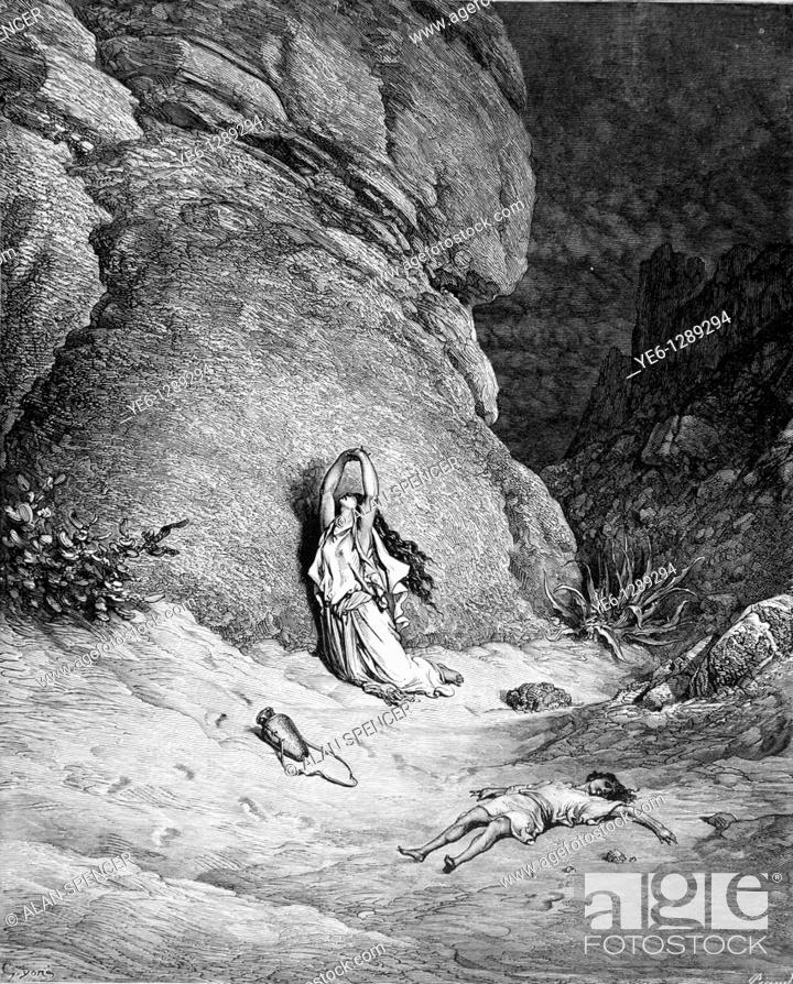 Gustave Dore Hagar And Ishmael In The Desert Bible Story Old