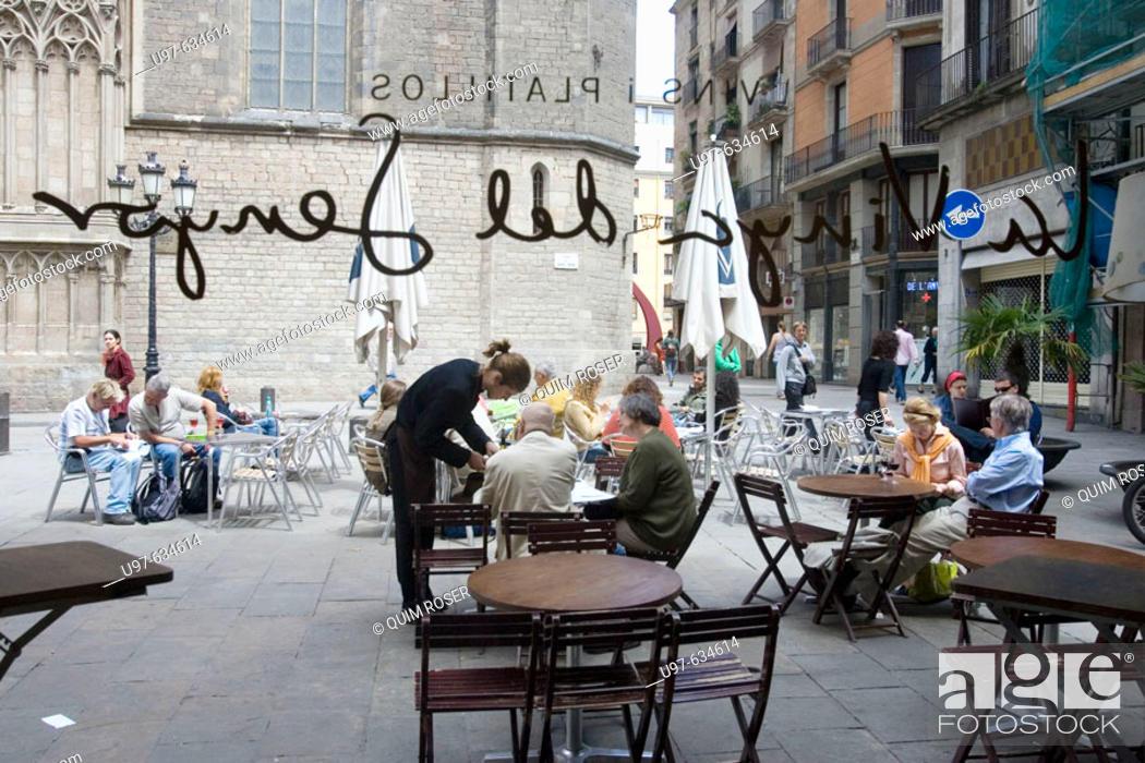 Stock Photo: Santa Maria del Mar, gothic church. Barcelona, Spain.