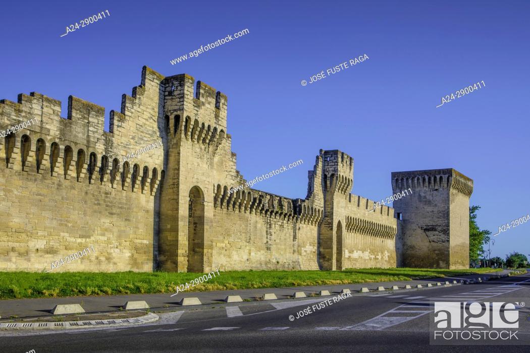 Stock Photo: France, Provence region, Avignon city, , the walls of Avignon.