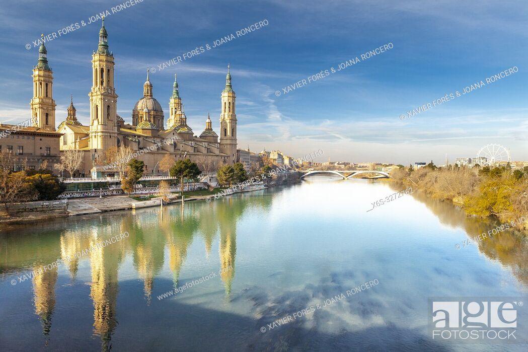 Stock Photo: Cathedral - Basilica of Nuestra Señora del Pilar, Zaragoza, Spain.