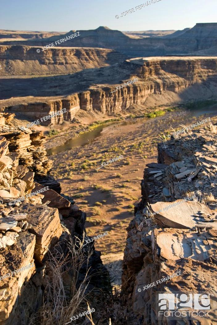 Stock Photo: Landscape of the Fish River Canyon, Namibia, Africa.