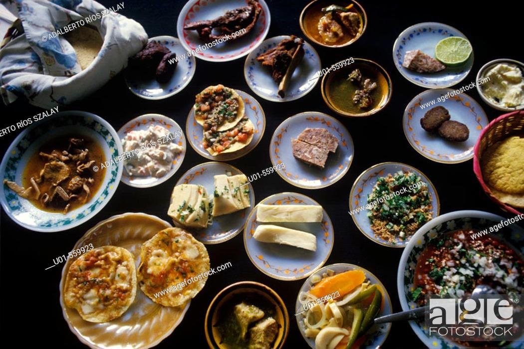 Stock Photo: Chiapas Delicacies Mexico.