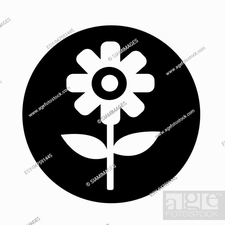 Stock Vector: Flower icon.