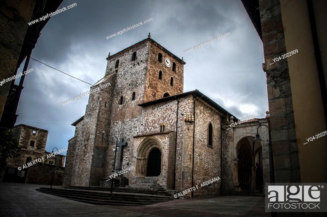 Stock Photo: Image of Basilica of Llanes. Asturias. Spain.