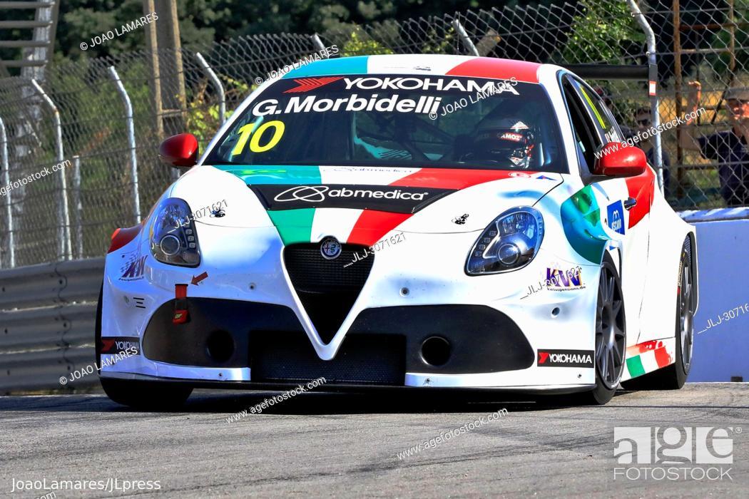 Stock Photo: WTCR 2018: Vila Real. Race of Portugal, Pratice Action. Morbidelli, Alfa Romeo Giulietta TCR.