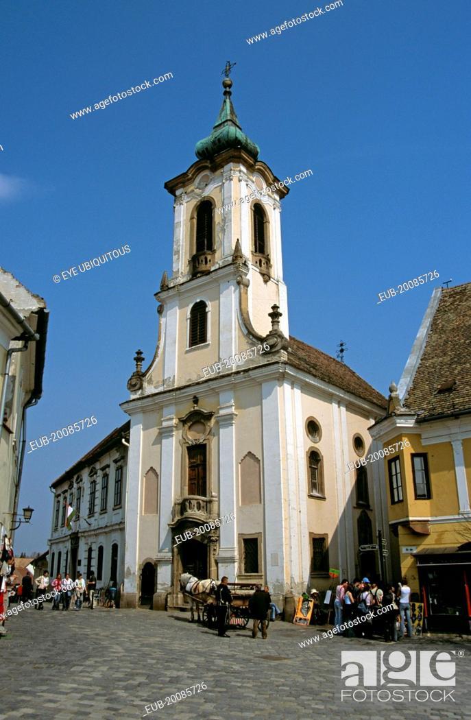 Stock Photo: Blagovestenska Church (Serbian Orthodox Church), Main Square.