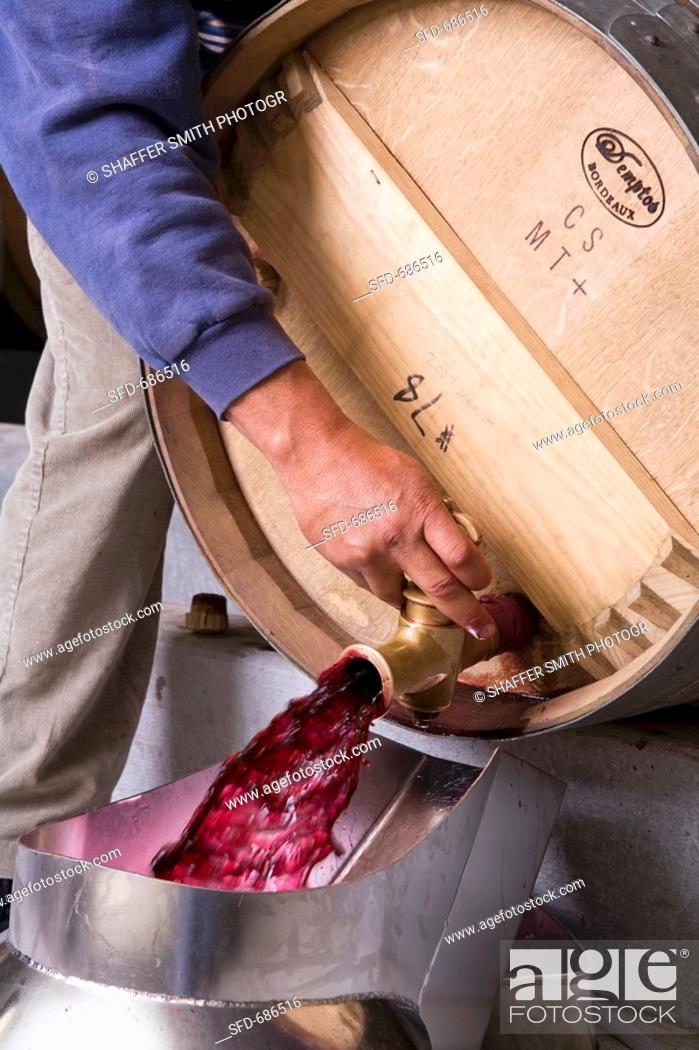 Stock Photo: Removing Wine from Cask.