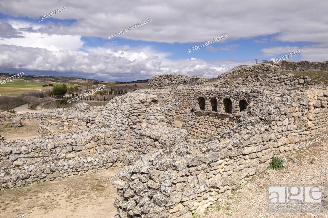 Stock Photo: termas del teatro, parque arqueológico de Segóbriga, Saelices, Cuenca, Castilla-La Mancha, Spain.