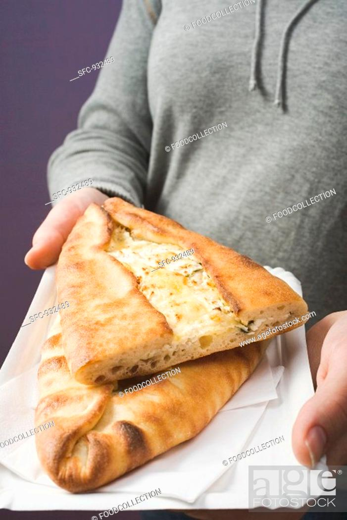 Stock Photo: Börek filled with sheep's cheese.
