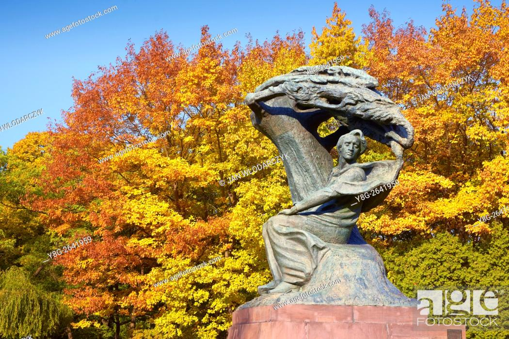 Chopin Monument In Lazienki Park Frédéric François Chopin Polish