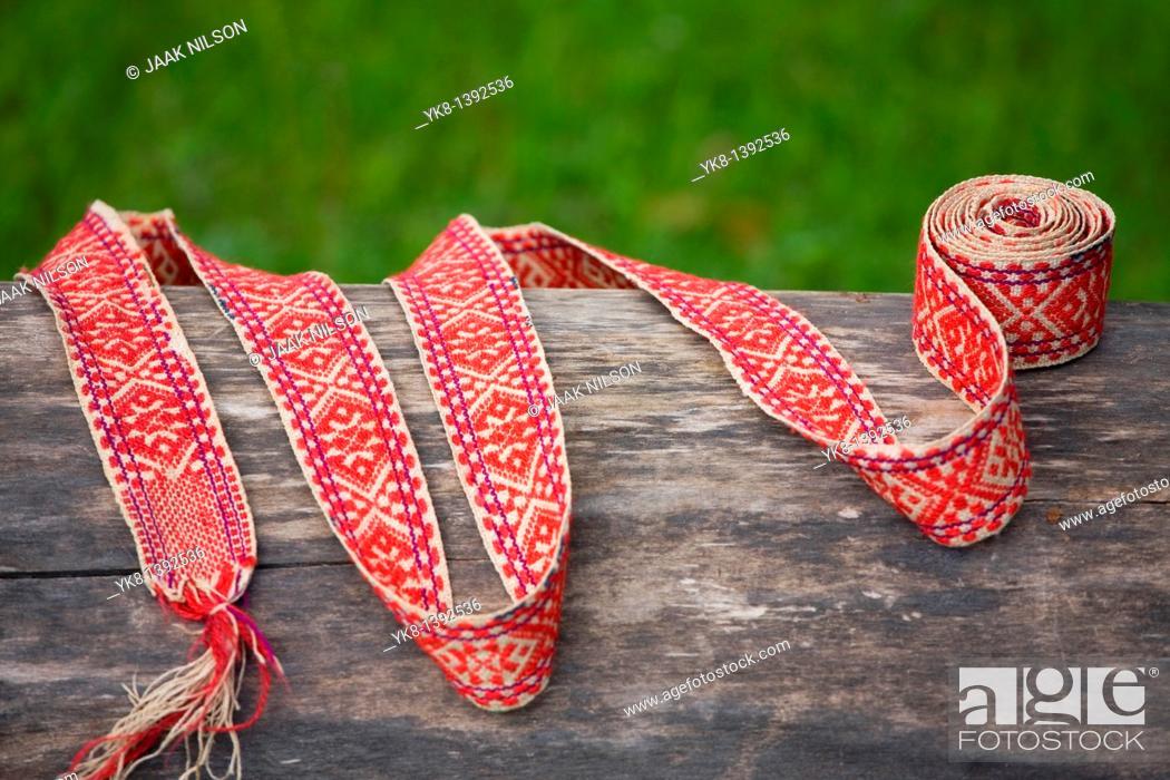 Stock Photo: Belt of Estonian National Costume.