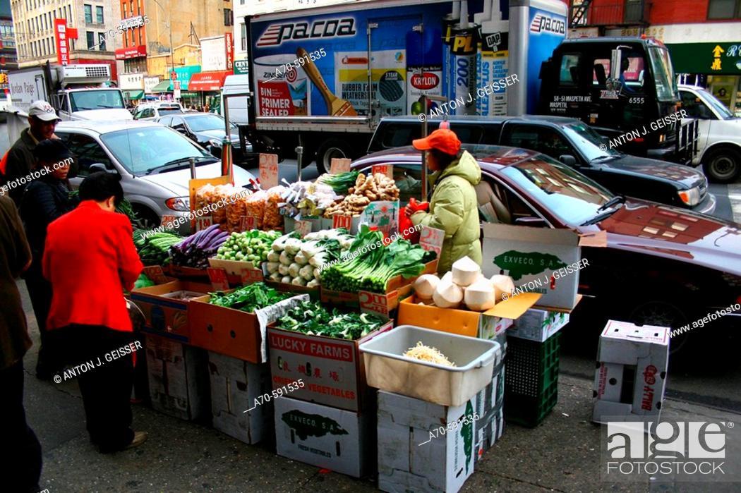 Stock Photo: Market. Chinatown. New York City. USA.