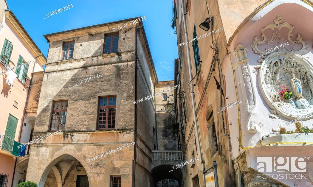 Stock Photo: Palazzo Pagliari in the old town of Imperia at the Ligurian Coast, North West Italy.