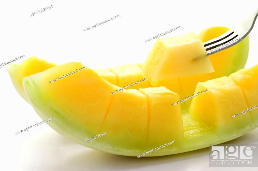Stock Photo: Lanchow Melon.