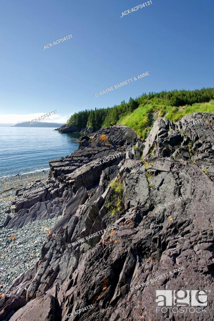 Stock Photo: Admiral's Cove coastline, Newfoundland and Labrador, Canada.