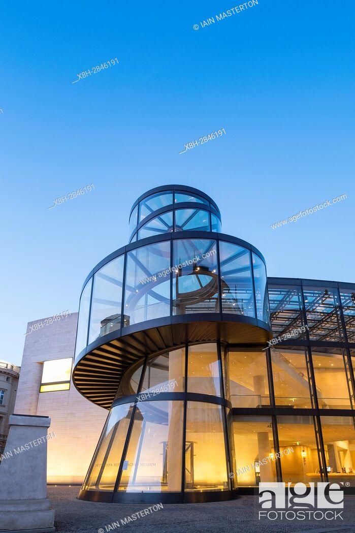 Stock Photo: Evening view of Modern extension to German History Museum ( Deutsches Historisches Museum) by IM Pei in Mitte Berlin Germany.