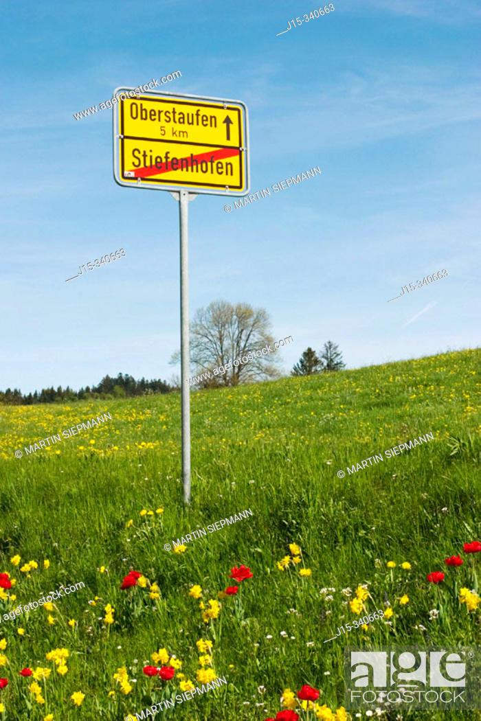 Stock Photo: Sign. Allgäu, Germany.