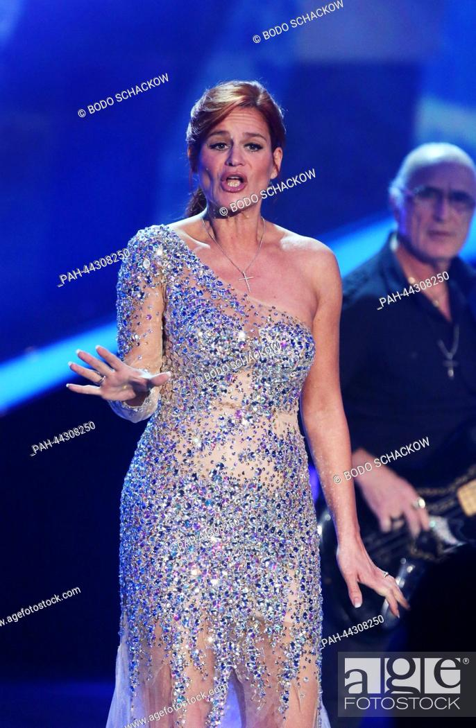 Schlager Singer Andrea Berg Performs For The Zdf Entertainment
