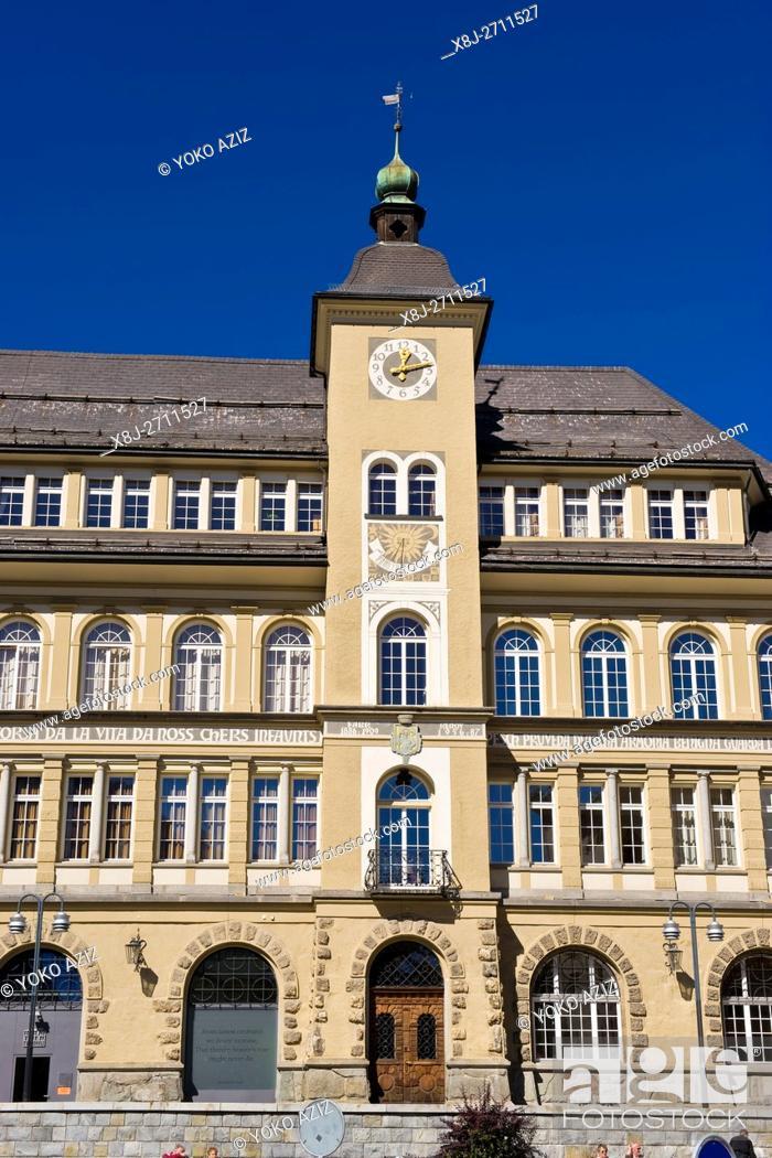 Stock Photo: Townhall, St. Moritz, Switzerland.