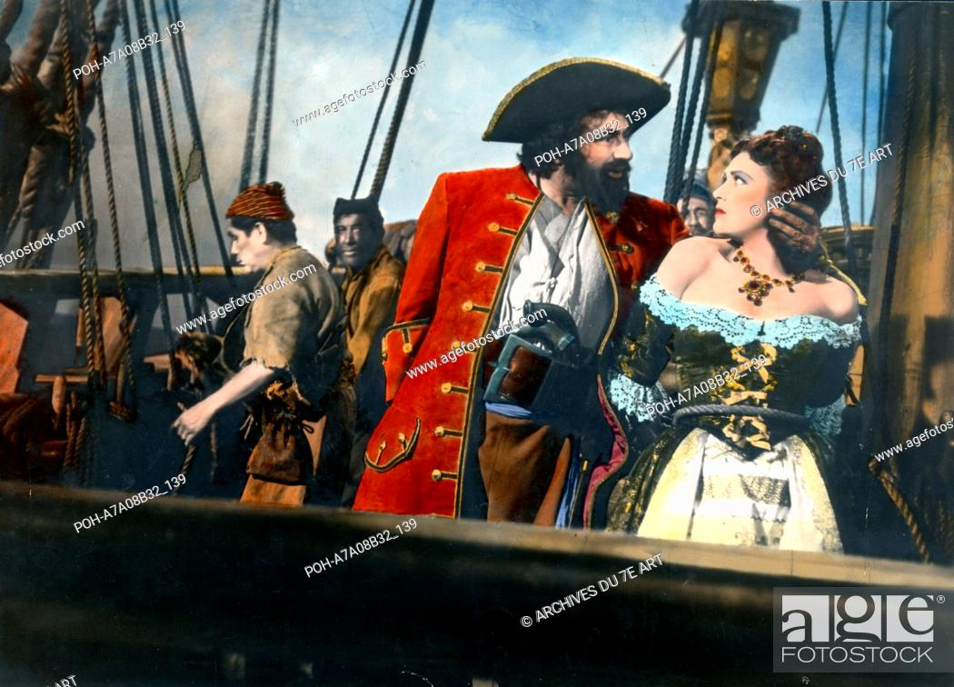 Barbe noire le pirate Blackbeard, the Pirate Year: 1952 USA Robert Newton,  Stock Photo, Picture And Rights Managed Image. Pic. POH-A7A08B32_139    agefotostock