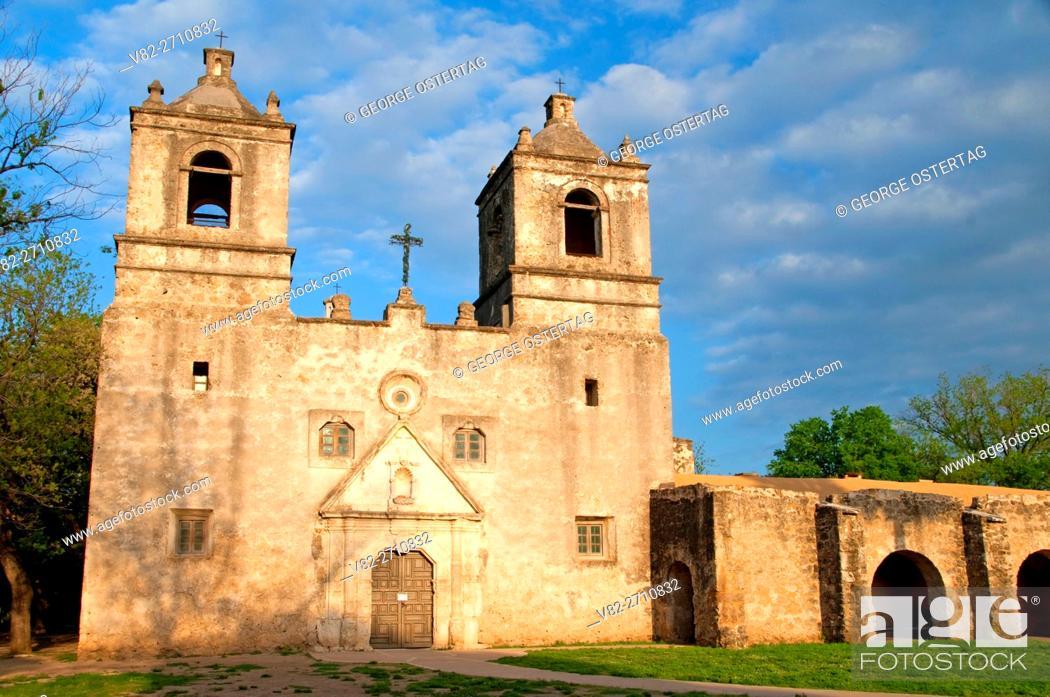 Photo de stock: Mission Concepcion, San Antonio Missions National Historical Park, Texas.