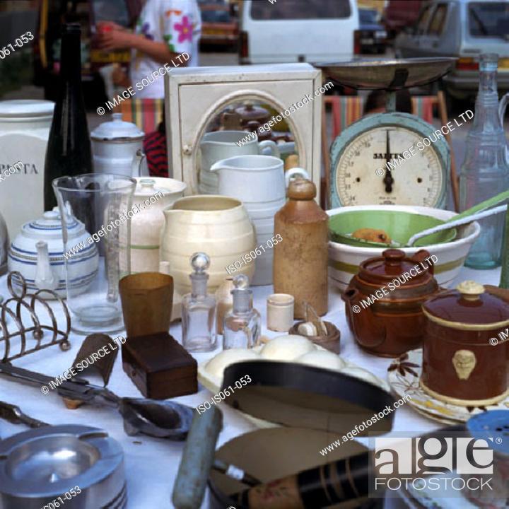 Stock Photo: Flea market stand.