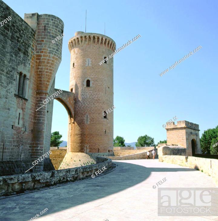 Stock Photo: Bellver Castle, 14th century. Palma de Mallorca. Majorca. Balearic Islands. Spain.