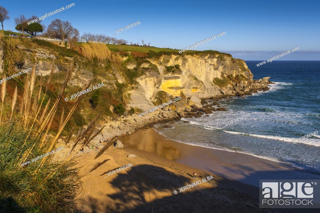 Stock Photo: Mataleñas beach, Cabo Menor. Santander, Cantabrian Sea. Cantabria, north Spain. Europe.