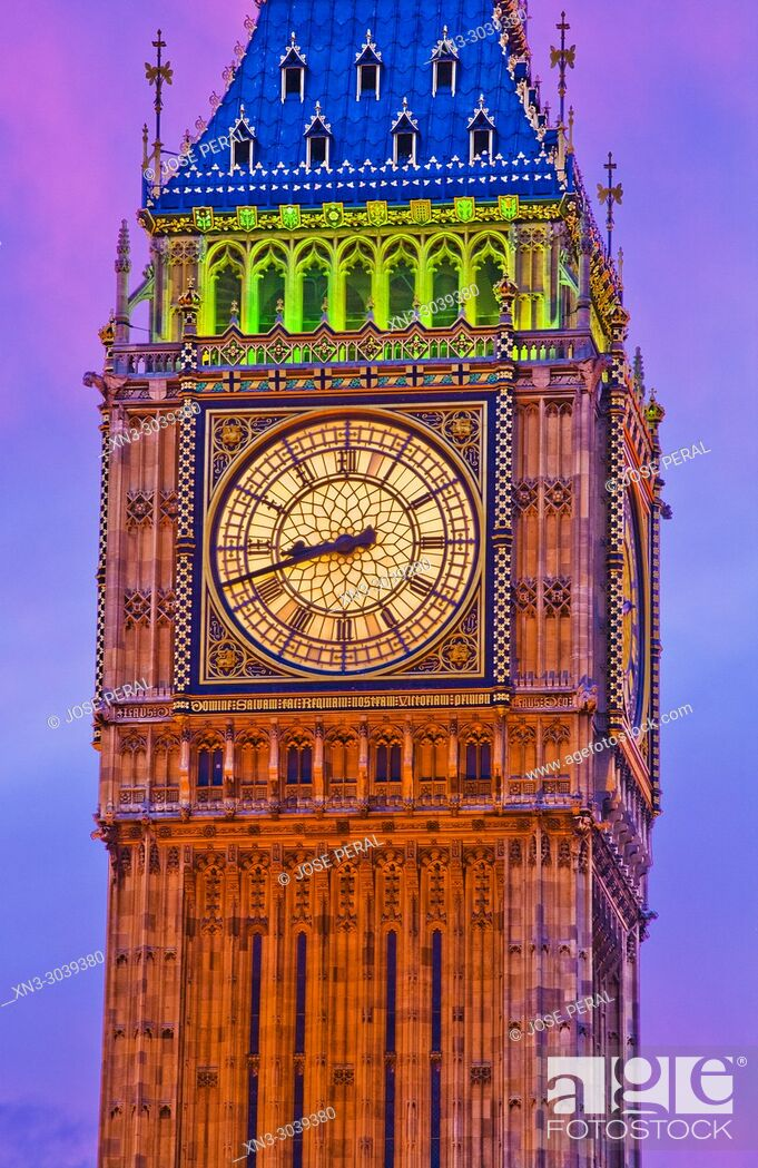 Imagen: Elizabeth Tower, Big Ben, Clock tower, Houses of Parliament, Palace of Westminster, City of Westminster, London, England, UK, United Kingdom, Europe.