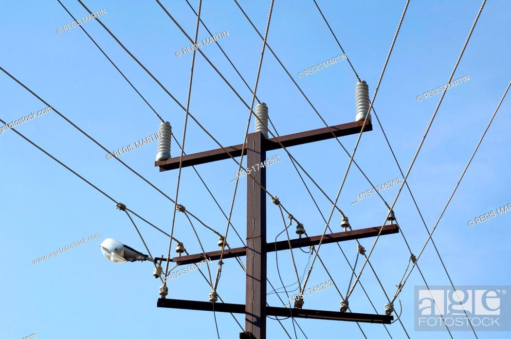 Stock Photo: Electric lines in Darwin Australia.