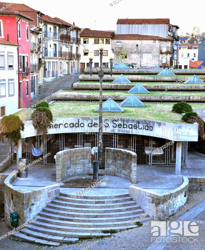 Imagen: Mercado de São Sebastião (São Sebastião market), Porto, Portugal.